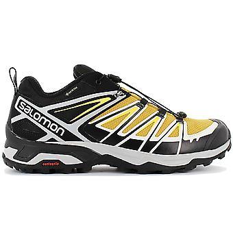 Salomon X ULTRA 3 GTX - GORE-TEX - Herren Wanderschuhe Gelb-Schwarz 409866 Sneaker Sportschuhe