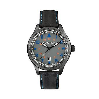 Nautica A11110G Men's Grey Leather Watch