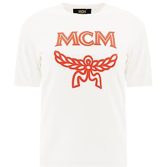 Mcm Mftasmm03 Women's White Cotton T-shirt