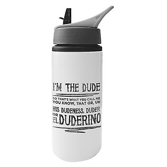 The Big Lebowski Dude Quote Aluminium Water Bottle With Straw