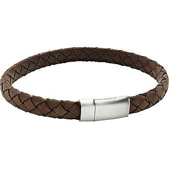 Duncan Walton Lyon Thick Plaited Bracelet - Brown