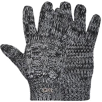Fila Unisex Cable Tejer Chunky Knitted Winter Guantes cálidos - OSFA