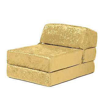 Sofas wechseln | 'Envie' Zerkleinert samt Falten aus einzelne Z Bett Matratze (Bling Chartreus)