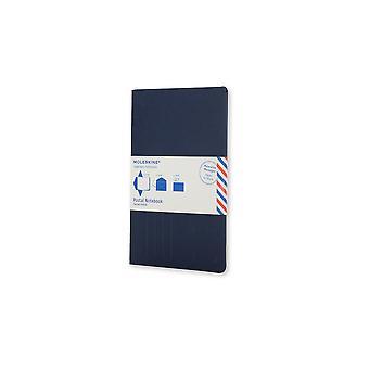 Moleskine postal notebook large indigo blue
