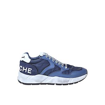 Voile Blanche 1c55001201457703 Men's Blue Fabric Sneakers