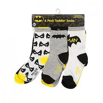 Batman 6-Pack peuter sokken