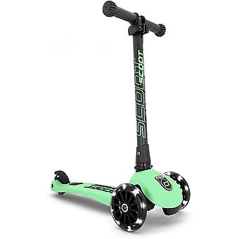 scoot and ride highwaykick 3 led folding scooter kiwi ages 3-6 years
