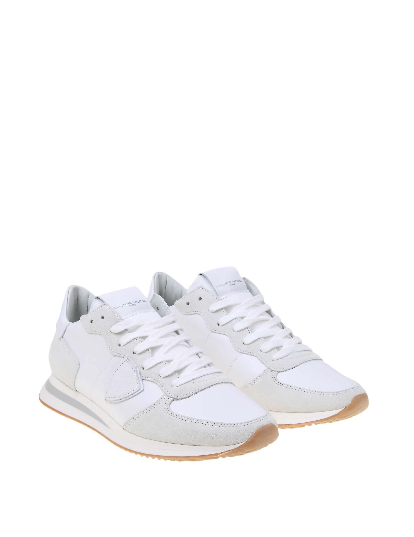 Philippe Model Tzlu5001 Hommes's Baskets en tissu blanc