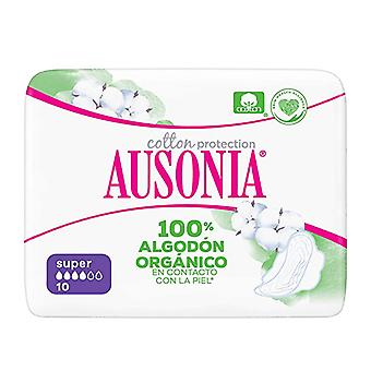Super Sanitary Pads with Wings ORGANIC Ausonia (10 uds)