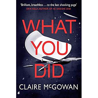 What You Did by Claire McGowan - 9781542091336 Book