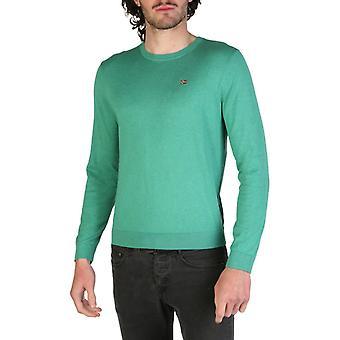 Man cotton long sweater round t-shirt top n25719