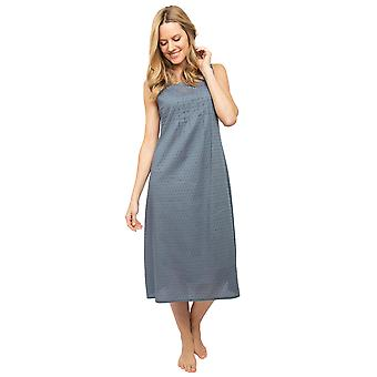 Cyberjammies Nora Rose Emelia 1428 Women's Grey Woven Clip Jacquard nightdress