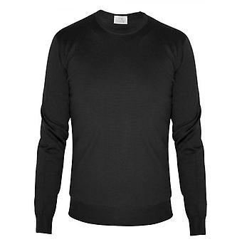 CC Collection Corneliani Black Knitted Wool Jumper
