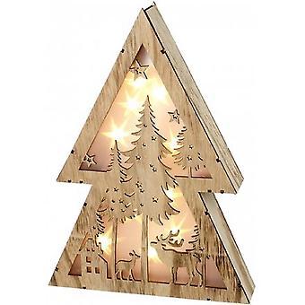 Allumez la scène de Noel de bois