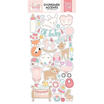 Echo Park Hello Baby Girl 6x13 Pouces Accents Chipboard