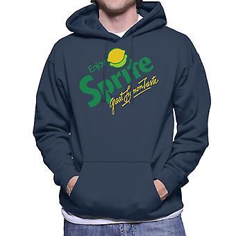 Sprite retro 80s logo mænds Hooded sweatshirt