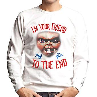 Chucky Im Your Friend To The End Men's Sweatshirt