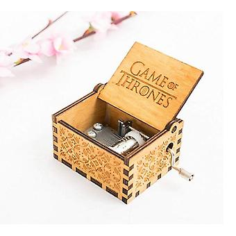 Spiel der Throne Titel Track Themen Hand Gekurbelt Sammler graviert GOT Holz Musik-Box