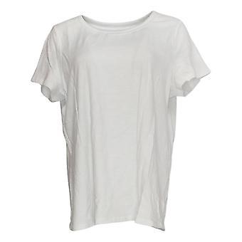 C. Wonder Women's Top Essentials Slub Knit Short Sleeve Tee White A289693