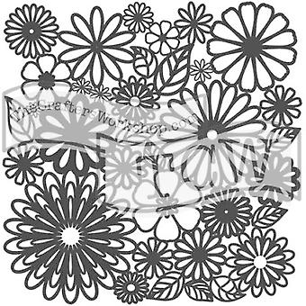 The Crafter's Workshop Flower Frenzy 6x6 Inch Stencil