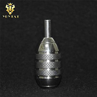 One Premium Stainless Steel Tattoo Grip With Back Stem