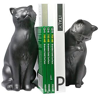 NY8022B, Danya B Cat Bookend Set - Nero
