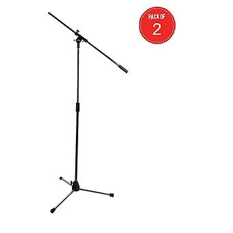 COMBO10, On-Stage Tripod Microphone Boom Stand, Chrome (Set of 2)