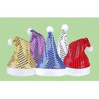 Multi Colors Santa Claus Sequins, Hats ,caps - Christmas Decor Of Adult /'s