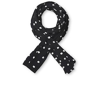 Masai Clothing Along Black & White Spot Scarf