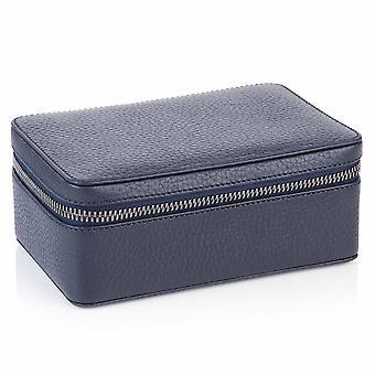 Indigo Blue Richmond läder stora Trinket Box