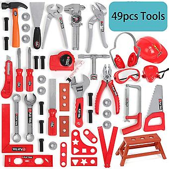 49pcs/set Garden Tools Pretend Play Repair Tool Environmental Plastic Engineering Maintenance Tools Toys For Children