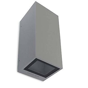 Leds-C4 Afrodita - 2 luces al aire libre arriba pared gris luz IP65, GU10