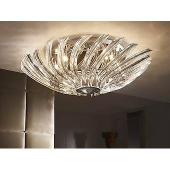 8 Light Crystal Flush Szkło Owe światło sufitowe Chrom, G9