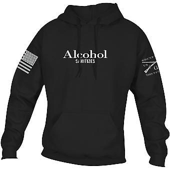 グラントスタイルアルコールはプルオーバーパーカーをサニタイズ - ブラック