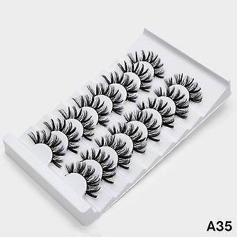4/8 Pairs Of 3d Mink Natural False Eyelashes