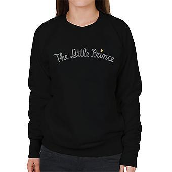 The Little Prince Text Logo Women's Sweatshirt
