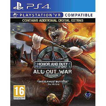 Honor and Duty All Out War Edition PS4 Game