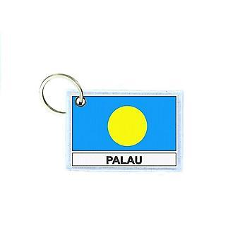 Porte cles cle clefs imprime double face drapeau PAL palaos