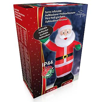 Santa Nicholas Inflatable 180cm LED Inflatable Christmas Polar Decoration Christmas with Motor Blow Up