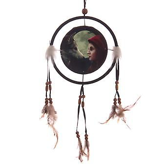 Decorative Fantasy Wolf and Women Dreamcatcher Small