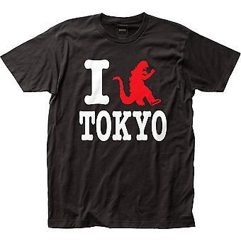 אני אוהב את טוקיו גודזילה חולצת טריקו