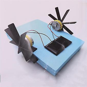 Model Robot Puzzle Diy Solar Powered Boat Roning Samling for Educational