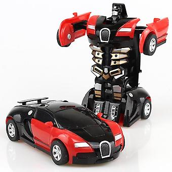 Transformator Mini 2 în 1 Masina Robot, Anime acțiune coliziune transformarea model