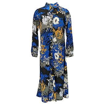 Women with Control Women's Petites Top Button Front Duster Blue A382806