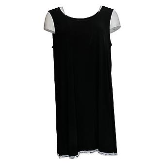 Women with Control Women's Top Como Jersey Sleeveless Tunic Black A353138