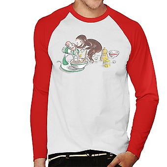 Utelias George Cooking Men's Baseball Pitkähihainen T-paita