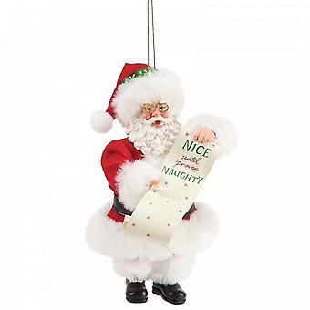 Department 56 Hanging Santa - Nice Until Proven Naughty