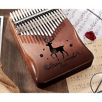 אגודל פסנתר מהגוני עץ Mbira כלי נגינה מחזות זמר 30 מפתח