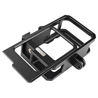 ل GoPro HERO9 أسود المعادن إطار الإطار جبل حالة واقية مع مشبك الأساسية جبل & المسمار (أسود)
