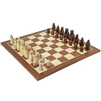 Die Isle Of Lewis großen Mahagoni Schach Set